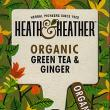 Heath & Heather Organic Green Tea with Ginger ~ 20 Tea Bags