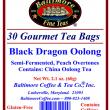 Black Dragon Oolong Tea Bags